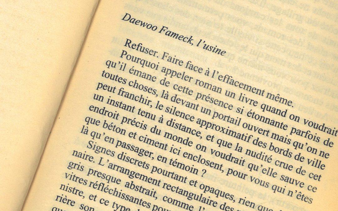 Daewoo de François Bon, 2004